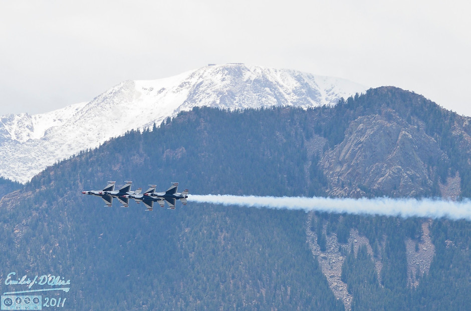 When I could I got shots of the airplanes against the Peak.  I think it adds a certain level of interest.